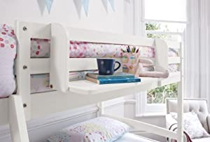 Cabin Bed Shelf Multi Purpose shelf ideal for Midsleepers WHITE GLOSS
