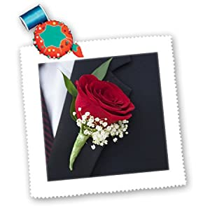 qs_83193_2 Danita Delimont - Weddings - Boutonniere on grooms lapel, Wedding - LI05 JEN0000 - Jim Engelbrecht - Quilt Squares - 6x6 inch quilt square