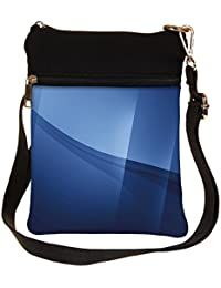 Snoogg Awesum Blue Design Cross Body Tote Bag / Shoulder Sling Carry Bag