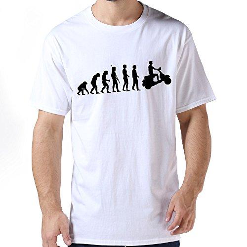 Zhitian Men'S Evolution Biker T-Shirt - Xl White