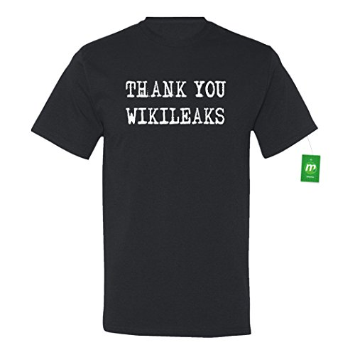 Minty Tees Thank You Wikileaks - Election 2016 Large Black Men's Shirt