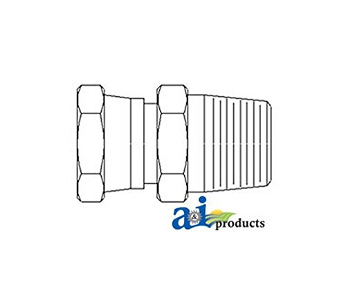 A and I, 43D42 Straight Female Jic Swivel X Male Npt Adapter (2 Pack), for Miscellaneous Machines Swivel, Straight