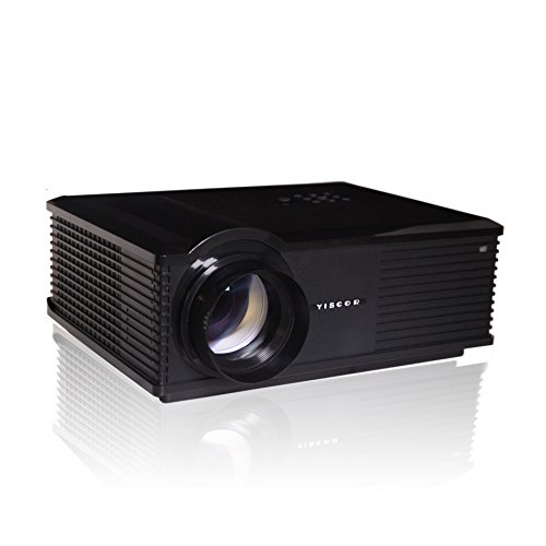 Yiscor Cree Led Projector Multimedia Black Hd 1080P 1280*800 3000Lumens Lcd Hdmi Usb Vga For Smartphone Game Home Theater Cinema Movie Game Effect
