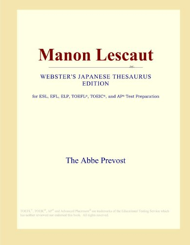 Manon Lescaut (Webster's Japanese Thesaurus Edition)