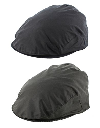84cca2a20d6 Mens Wax Flat Cap English made (WXC01)