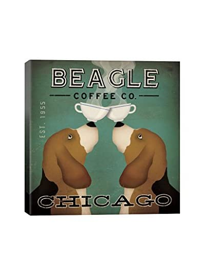 Ryan Fowler Beagle Coffee Gallery Wrapped Canvas Print