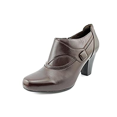 Clarks 60448 Womens Size 9.5 Brown Leather Fashion Ankle Boots