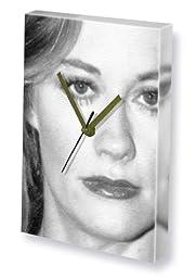 CYBILL SHEPHERD - Canvas Clock (A4 - Signed by the Artist) #js001