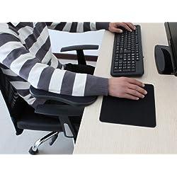 パソコン デスク用 アームレスト リストレスト 肘掛け (ブラック)