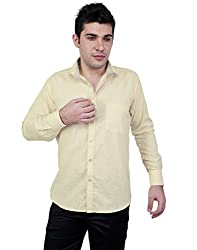 Zeal 100% Cotton Cream-Off White Casual-Formal Shirt