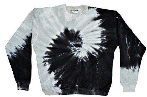 Colortone Tie Dye Sweatshirt 2X Spiral Black (Black Tie Dye Crewneck compare prices)