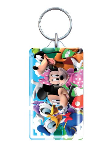 Disney Mickey and Gang Lucite Key Ring