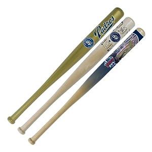 MLB San Diego Padres 18-Inch Hardwood Mini Bat Set (Team Logo Signature Stadium) by Coopersburg