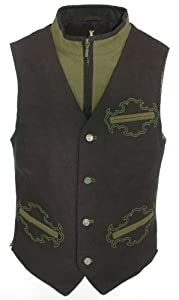Almsach Bavarian Vest In Black - Men