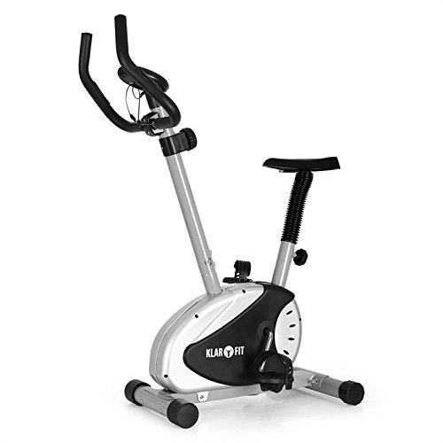 Klarfit MOBI Basic 20 Cyclette salvaspazio con cardiofrequenzimetro (computer di allenamento, 8 livelli di resistenza variabili, display LCD, sellino regolabile) - bianco