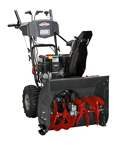 Briggs and Stratton 1696614 Dual-Stage Snow Thrower with 208cc Engine and Electric Start