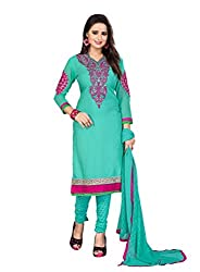Style Amaze Crepe Sky Blue Dress Material
