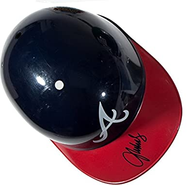 John Smoltz Signed Full Size Replica Atlanta Braves Batting Helmet Red Sox Cards