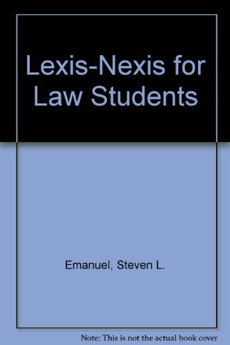 lexis-nexis-for-law-students-by-steven-l-emanuel-1997-07-01