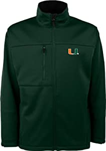 Miami Hurricanes Dark Green Traverse Bonded Soft Shell Jacket by Antigua