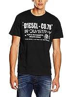 Diesel Camiseta Manga Corta T-Nuck-R (Negro)