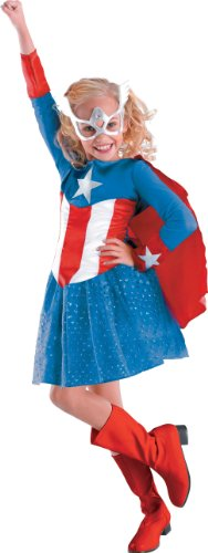 Disguise Inc - Captain America Girl Classic Toddler / Child Costume
