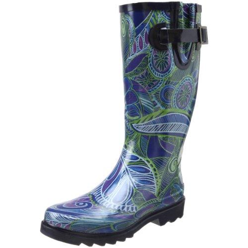Brilliant Details About Chooka Berry Womens Size 9 Black Textile Rain Boots