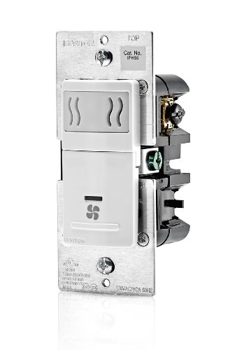 Leviton IPHS5-1LW Humidity Sensor and Fan Control, Single Pole, White (Humidity Switch Sensor compare prices)