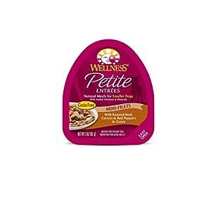 Wellness Natural Pet Food Petite Entrees Mini-Filets Natural Grain Free Wet Dog Food, Roasted Beef Recipe, 3 Ounce