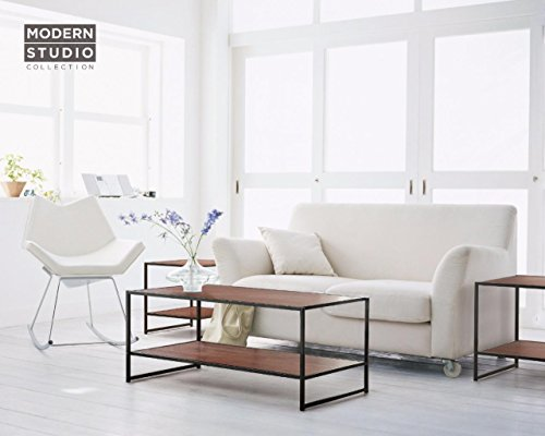 Zinus Modern Studio Collection Rectangular Coffee Table and Two Square Side Tables - 3 Pieces (Side Tables And Coffee Tables compare prices)