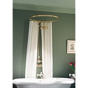 Round Shower Curtain Rod | Tubs | Restoration Hardware