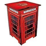 Table de chevet/petite table à assembler en forme de cabine téléphonique rouge londonienne