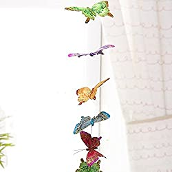 3D Butterfly Hanging Garland - Teenage Girl Room Decor - Baby Nursery Wall Decor Window Treatment Idea - Baby Girl Shower Gift - Patio Party Decoration Artificial 6.5 Inch Wingspan 68 Inch Long String