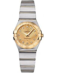 NEW OMEGA CONSTELLATION LADIES MINI WATCH 123.20.24.60.58.001