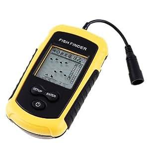 魚群探知機 超音波式 携帯型 ポータブル フィッシュファインダー バックライト付き