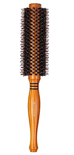 YUNAI Professional Rolling Comb Natural Boar Bristles Hair Brush Round Comb Hair Salon Comb Twill Hair curling Comb Hair Dryer Brush 1.85-inch (Hair Dryer With Rolling Brush compare prices)