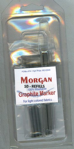 Morgan Graphite Marking Pencil REFILLS for Light Colored Fabrics