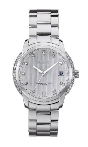 GANT W10712 - Reloj de mujer de cuarzo, correa de acero inoxidable color plata
