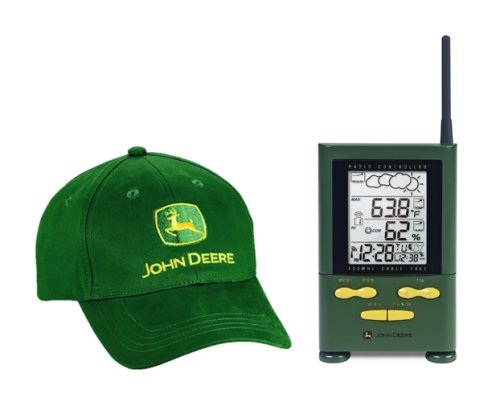 Oregon Scientific's John Deere Wireless Long-Range Weather Forecaster with Self-Setting Atomic Clock and Free Hat