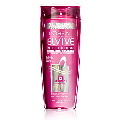 L'Oréal Paris Elvive Nutri-Gloss Luminizer Shampoo Ultra-Illuminante per Capelli Spenti, 300 ml