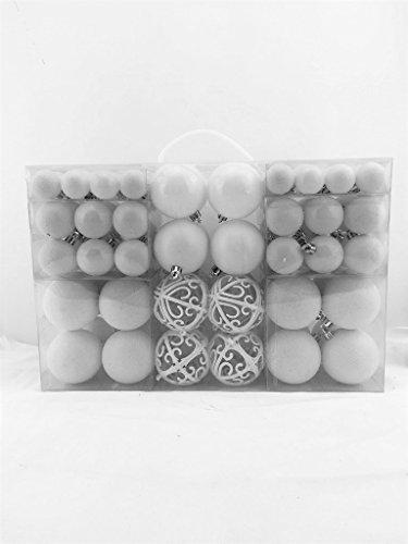 100-Weihnachtskugel-Weiss-glnzend-glitzernd-matt-Christbaumschmuck-bis--6-cm-Baumschmuck-Weihnachten-Deko-Anhnger