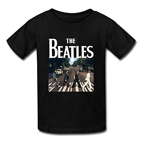 AOPO The Beatles Band Tees For Kids Unisex Large Black