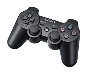 dualshock 3 ps3 controller black ps3 pc video games. Black Bedroom Furniture Sets. Home Design Ideas