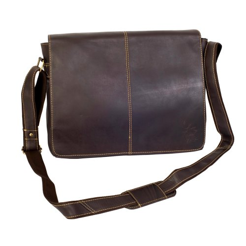 Mudd Soft Brown Hunter Leather East West Messenger Bag Brown