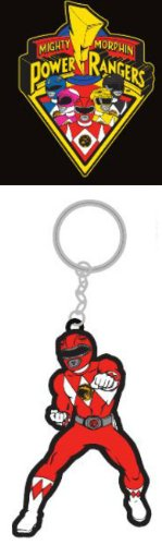 Mighty Morphin Power Rangers Rubber Keychain Red Ranger - 1