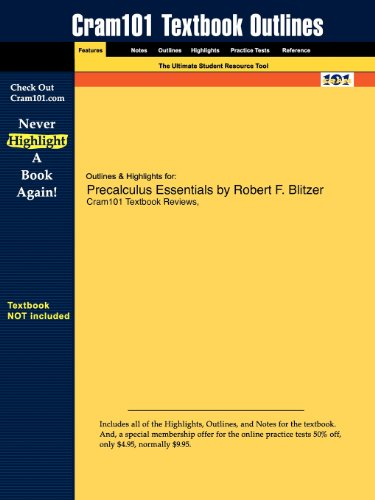Studyguide for Precalculus Essentials by Robert F. Blitzer, ISBN 9780132438988