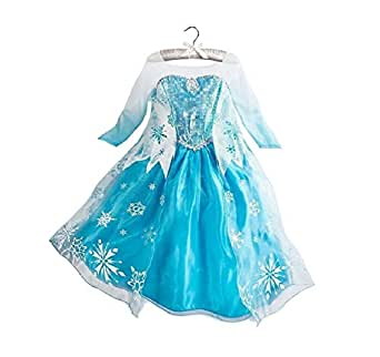 Buy Home Frozen Queen Elsa Snow Snowflake Dress Girls Costume Cosplay