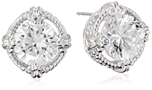 Sterling Silver Simulated Diamond Round 9mm Stud Earrings from PAJ, Inc