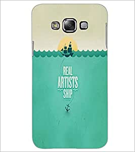 PrintDhaba Ship D-5638 Back Case Cover for SAMSUNG GALAXY A7 (Multi-Coloured)