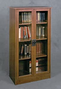 Amazon.com: Ameriwood Glass Door Bookcase: Kitchen & Dining